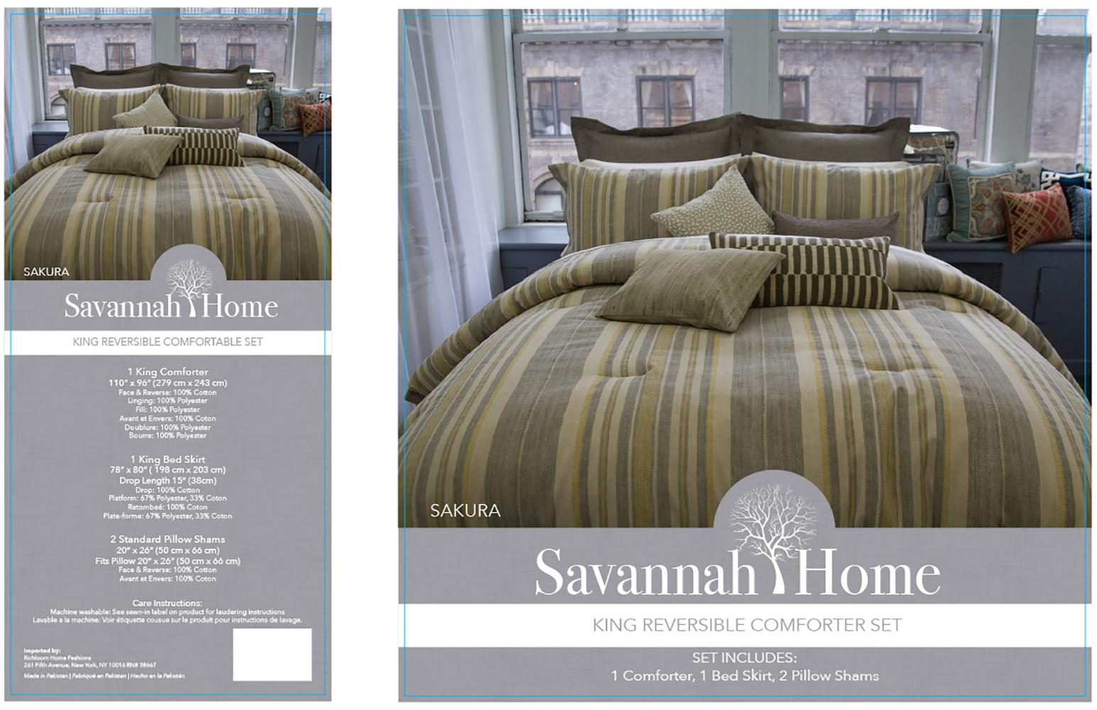 Savannah Home Bedding